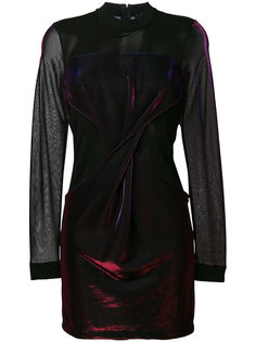 платье мини с драпировкой Versus