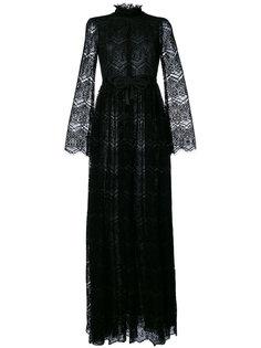 кружевное вечернее платье с бантом Giamba