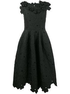 платье с цветочным узором  Simone Rocha