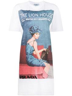 длинная футболка с принтом Lion House Prada