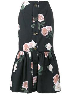 юбка с цветочным принтом  Rejina Pyo