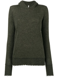 oversized cashmere distressed hoodie R13