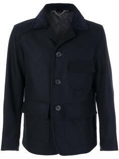 короткое однобортное пальто Doppiaa