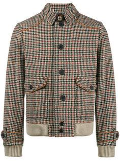 куртка в ломаную клетку Prada