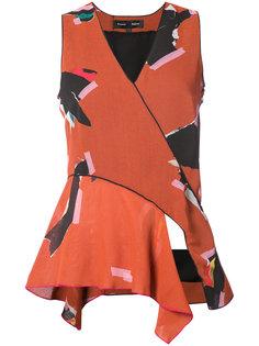 блузка с V-образным вырезом Proenza Schouler