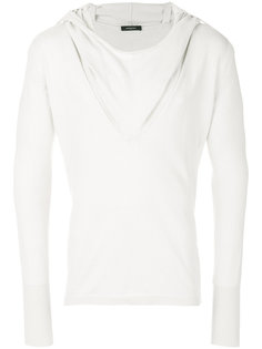 draped neck T-shirt Unconditional