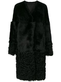 длинное пальто с V-образным вырезом Desa 1972