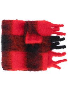 вязаный шарф в клетку Loewe
