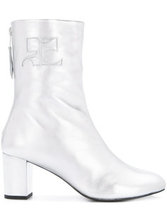 shearling zip up boots Courrèges
