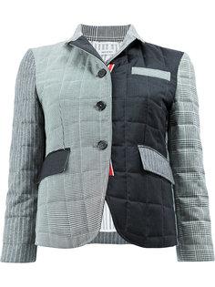 пуховая куртка в стилистике пэчворк Thom Browne