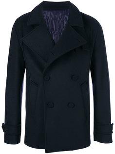 двубортное пальто с воротником-воронкой Wooyoungmi