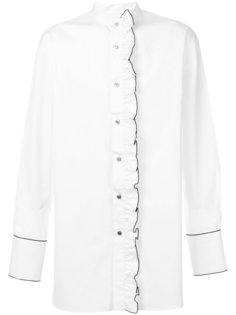 рубашка с рюшами и воротником-мандарин Wooyoungmi