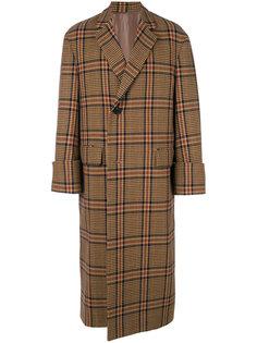 пальто с принтом в клетку Wooyoungmi