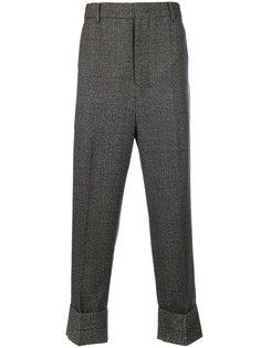 классические укороченные брюки в клетку  Wooyoungmi