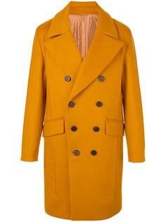 двубортное пальто с широкими лацканами Wooyoungmi