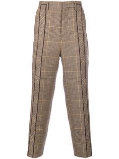 классические брюки со складками в клетку Wooyoungmi