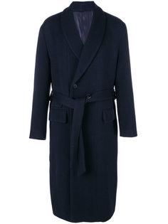 пальто на пуговицах с завязками Wooyoungmi