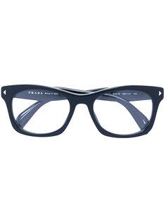square frame glasses Prada Eyewear