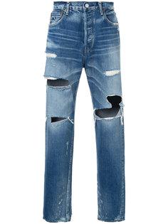 джинсы с потертой отделкой H Beauty&Youth