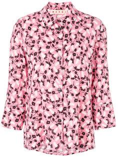 рубашка с цветочным принтом  Marni