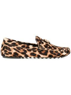 леопардовые лоферы Tory Burch
