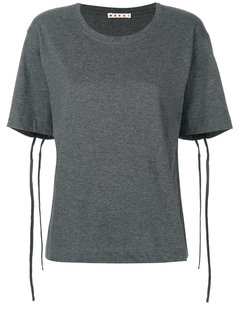 футболка с завязками на рукавах  Marni