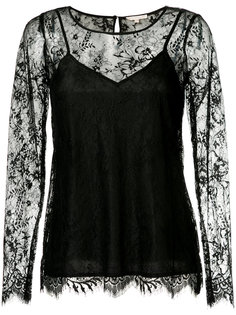 long-sleeved lace top Gold Hawk