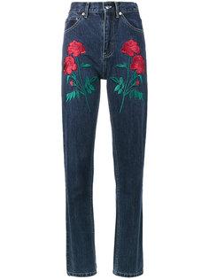 джинсы с вышитыми розами Rodeo Adam Selman