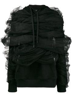 толстовка с драпировкой из тюля  Y / Project