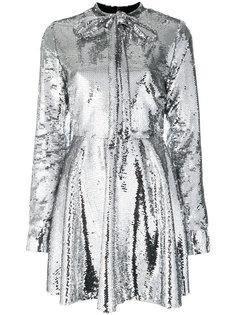 платье с пайетками и бантом Brognano