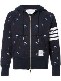 embroidered skier hoodie Thom Browne