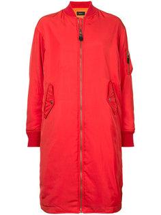 zipped long bomber jacket  G.V.G.V.