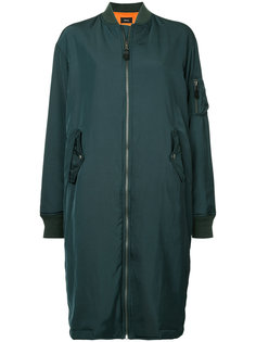 zipped long bomber coat  G.V.G.V.