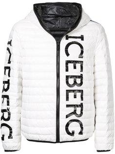 куртка с принтом логотипа Iceberg
