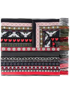 жаккардовый шарф ленточного дизайна Alexander McQueen