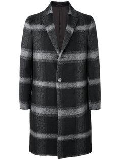 пальто в клетку Calvin Klein