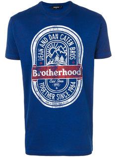 футболка с принтом Brotherhood  Dsquared2