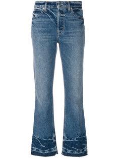 укороченные расклешенные джинсы Helmut Lang