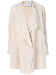 пальто с драпировкой на воротнике  Harris Wharf London