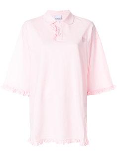 свободная рубашка поло с оборкой  Nicopanda