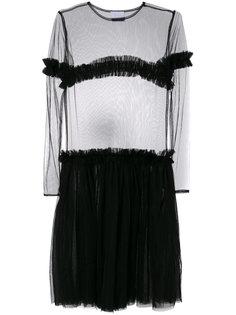 платье с прозрачной панелью Nicopanda