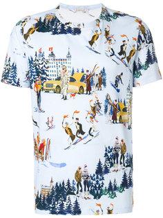 футболка с принтом лыжного курорта Moncler