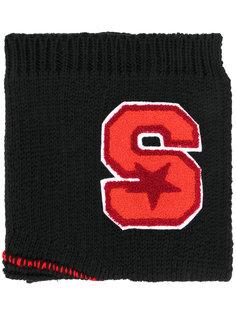 шарф с заплаткой в виде буквы Raf Simons