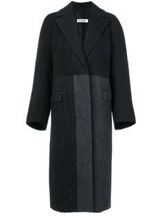 пальто со вставками  Jil Sander