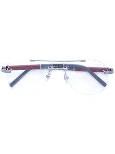 очки  с круглой оправой Montblanc