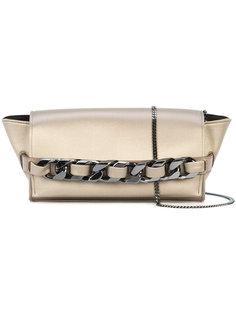 fold over chained clutch bag Elena Ghisellini