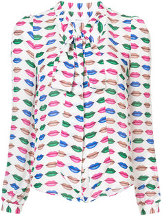 lips print blouse Milly