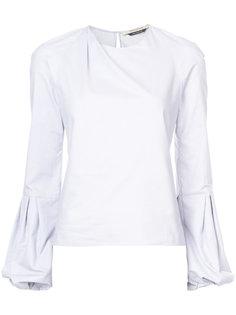 bell-sleeved poplin shirt Hellessy