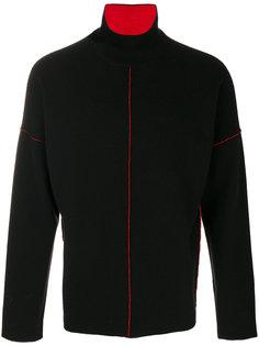 свитер с контрастными швами Joseph