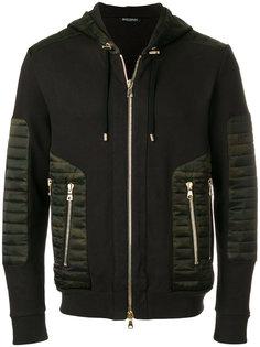куртка на молнии с камуфляжным принтом Balmain